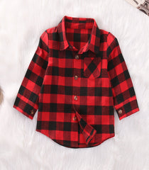 The Ultimate Red Plaid 'Hipster' Button-Up Shirt