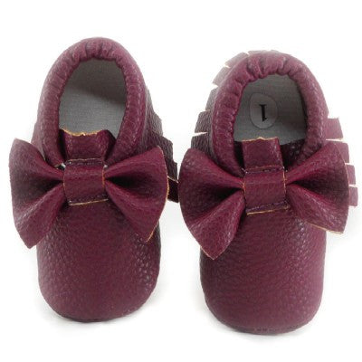 bfb53e59b38b ...  LIMTED EDITION   Baby Loub s  Red Sole Fringe Moccasin with Bow ...