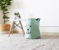 Cartoon Animal Print Folding Laundry / Toy Basket
