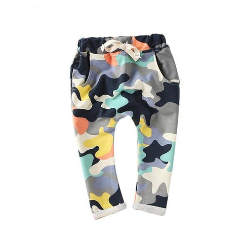 Desert White & Color Camouflage Harem Pants
