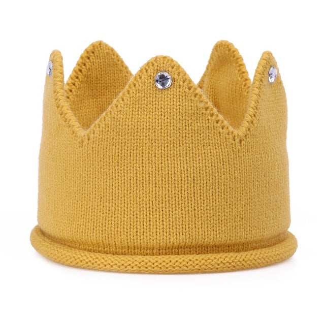 New Unisex Baby Hand Knitted Crowns Birthday