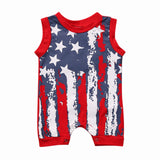 Stars & Stripes Sleeveless Jumpsuit