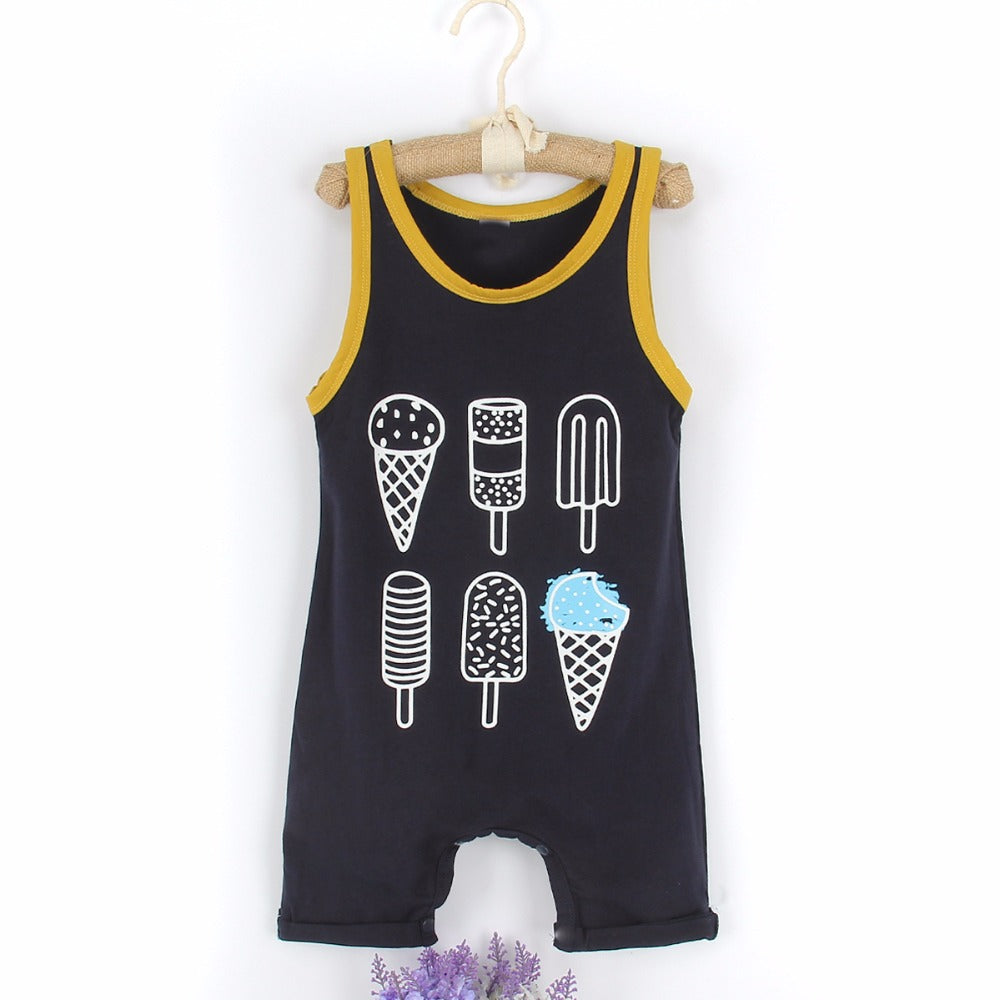 The 'Ice Cream' Sleeveless Romper