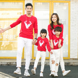 'Emblem Deer' Matching Family Sweatshirt