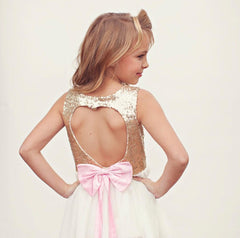 The 'Heart Back' Sequins Party Gown Dress