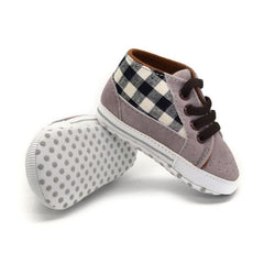The Fashion Plaid Casual Soft Sole Crib Shoes