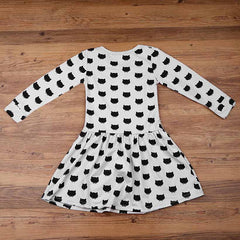 The Long Sleeve 'Cat Stamp' Dress