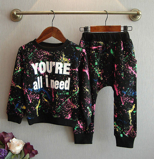 80's Splash 2-PC Sweatshirt + Pant Set