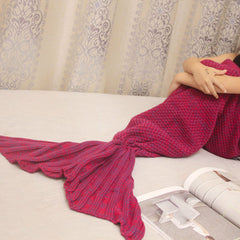 Crocheted Mermaid Cacoon Blanket