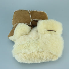 Genuine Leather Sheepskin Lined Baby Boots