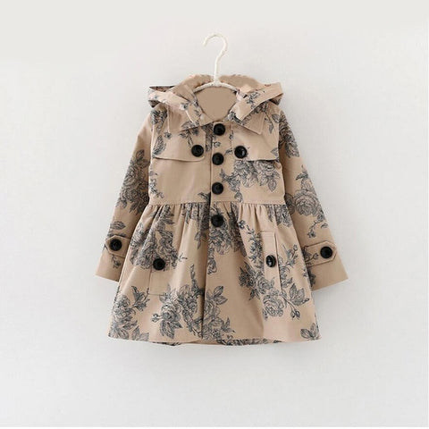 'Tracy' Button-Up Hooded Long Coat