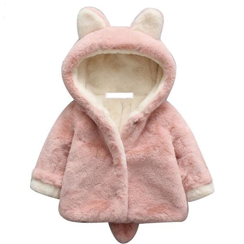 Faux Fox Fur Fleece Coat