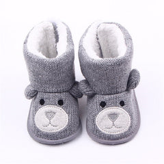 Baby Bear Knit Wool Fall Boots