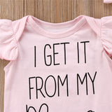 'Get It From My Mama' Romper and Headband