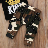 'King' Camo Harem Set