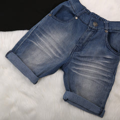Mama's Boy Denim short and Shirt Set