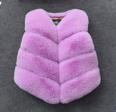 City Faux Fur Waist Vest