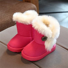 'Miska' Plush Button Boots