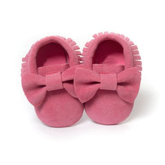 Baby Girl Bow-Topped Moccasins