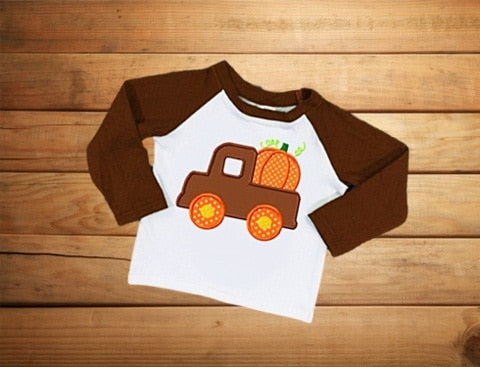'Pumpkin Truck' Long Sleeve Shirt