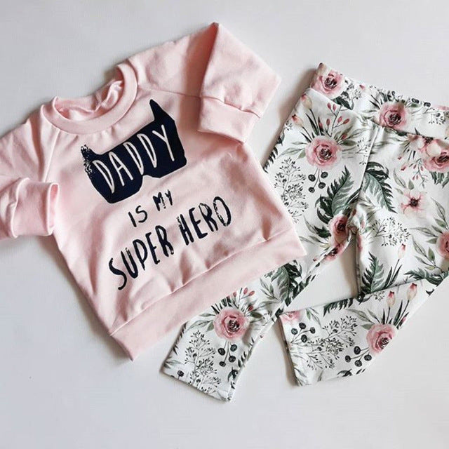 'Daddy Hero' Shirt + Pants Set