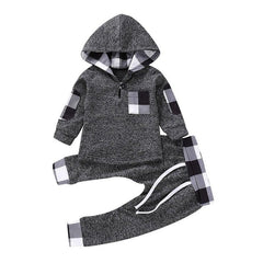 'Rad Plaid' Hooded Set