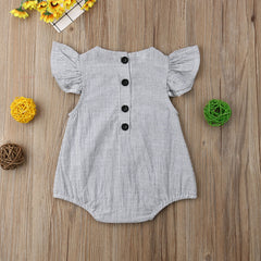 'Saylor' Button-Backed Onesie