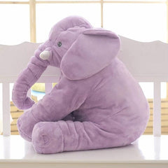 'Tusks' Plush Elephant Pillow