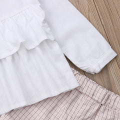 'Patti' Ruffle Shirt + Pants Set
