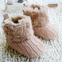'Camryn' Crochet Knit First Walker Boots