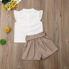 'Feathers' Shirt + Shorts Set