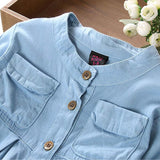 Flowing Denim Blouse