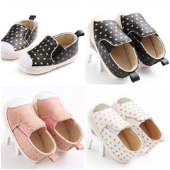 Baby Poka Dot First Walker Shoes