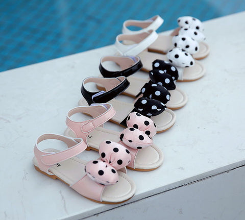 'Spot' Polka Dot Bow Sandals