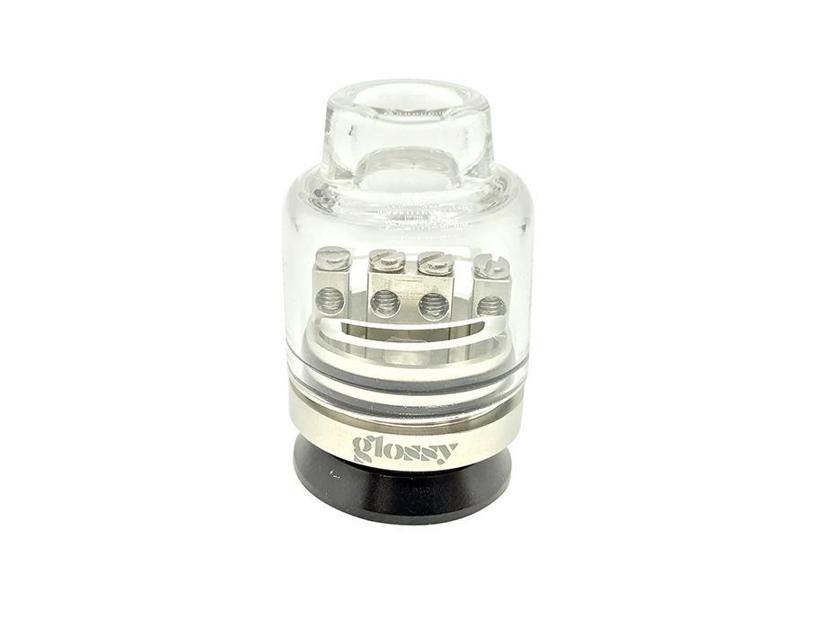 Glossy Glass Bottom Feed RDA capped