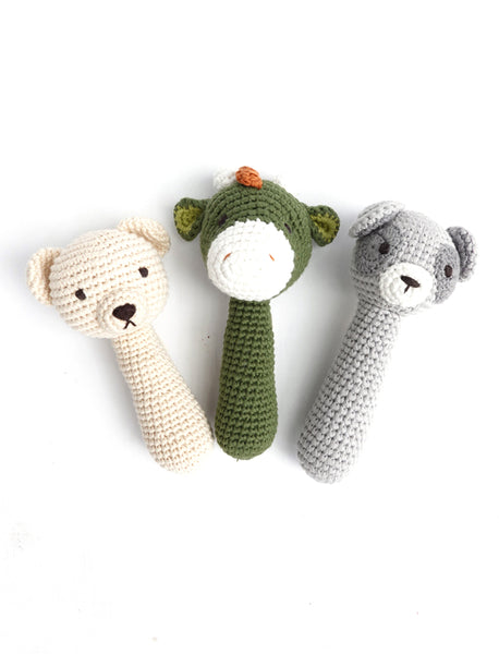 Snuggle Friend - Baby Rattle Bear/Dinosaur/Lemur