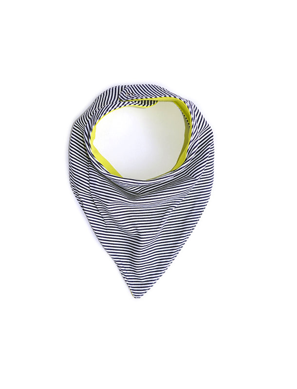 Bandana Bib Yellow-Navy Stripes