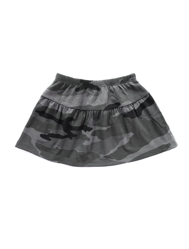 Forest Grey Gathered Skirt