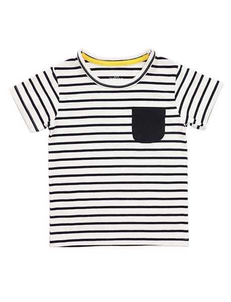 Marine Stripe Short-Sleeves T-shirt