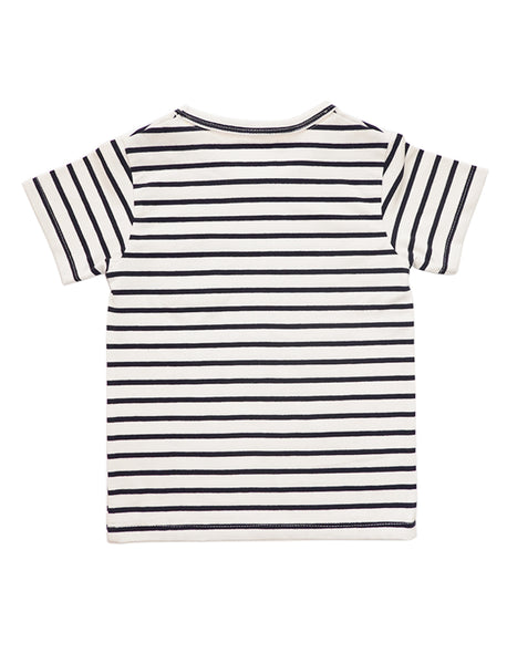 Marine Striped Short-Sleeves T-shirt