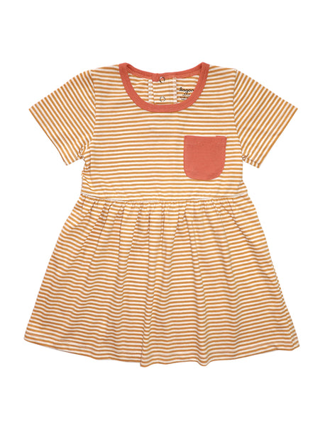 Marigold Short Sleeves Mid-Gathered Dress