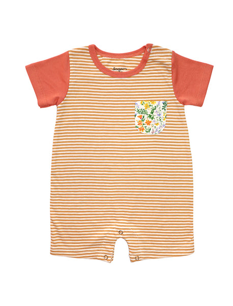 Marigold Short Sleeves Meadow Pocket Romper