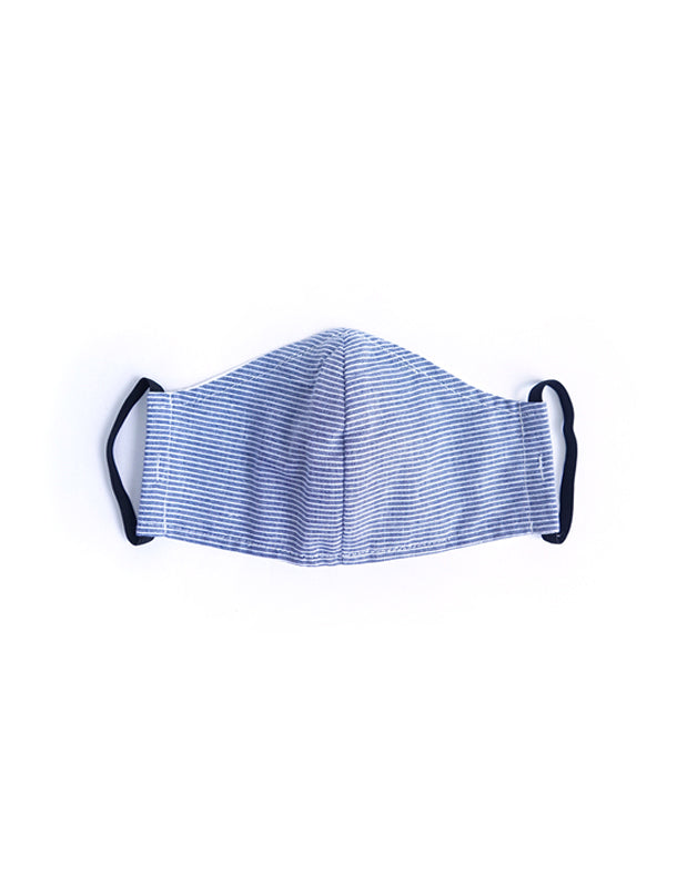 Blue Stripe Fabric Mask - Kid