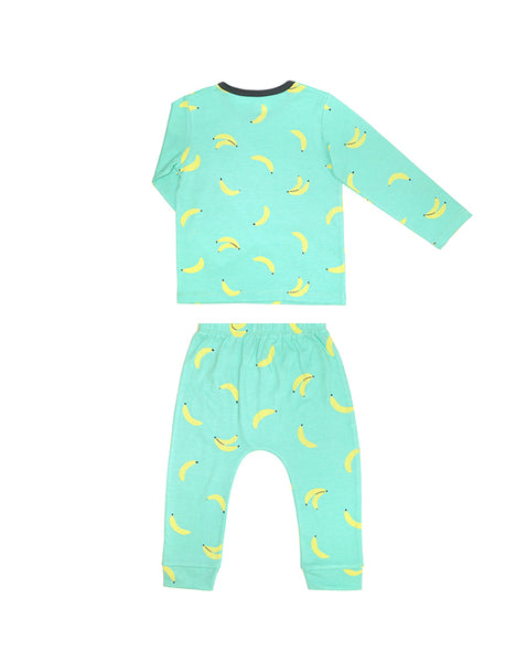 Comfy Banana Long Sleeves and Pants Pajamas Set