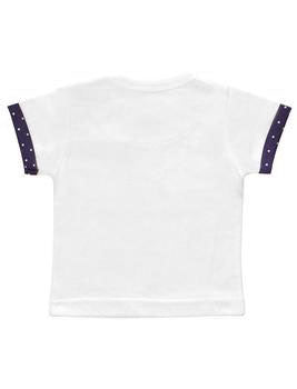 Blå Prickig Pocket Short-Sleeves T-shirt