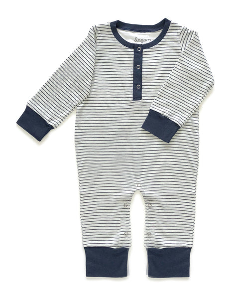 Svart Rand Long Sleeves Jumpsuit