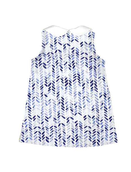 Blom Blue A-line Collar Dress
