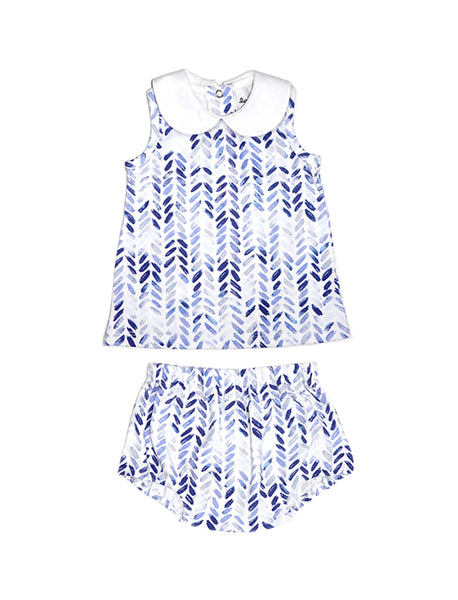 Blom Blue Singlet & Bottom Baby Set
