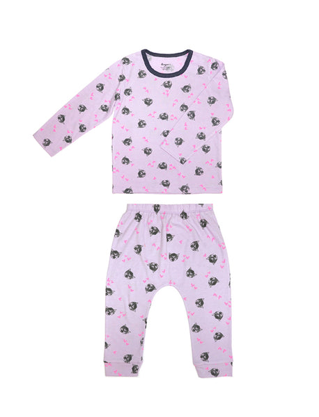 Comfy Cat Long Sleeves and Pants Pajamas  Set