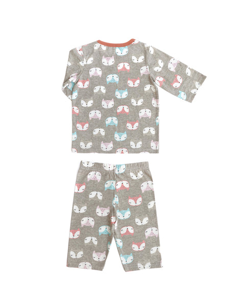 Sleepy Fox 3/4 Sleeves and Pants PJ Set